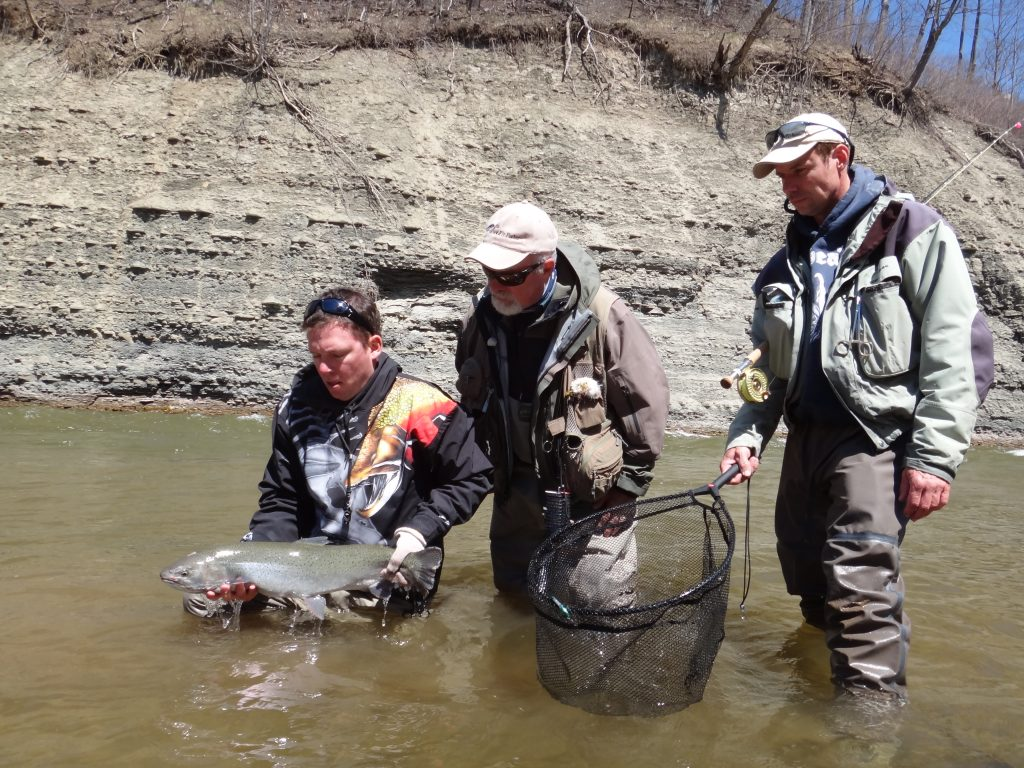 Graham with Bill Spicer and Mark Melnyk from the New Fly Fisher Show