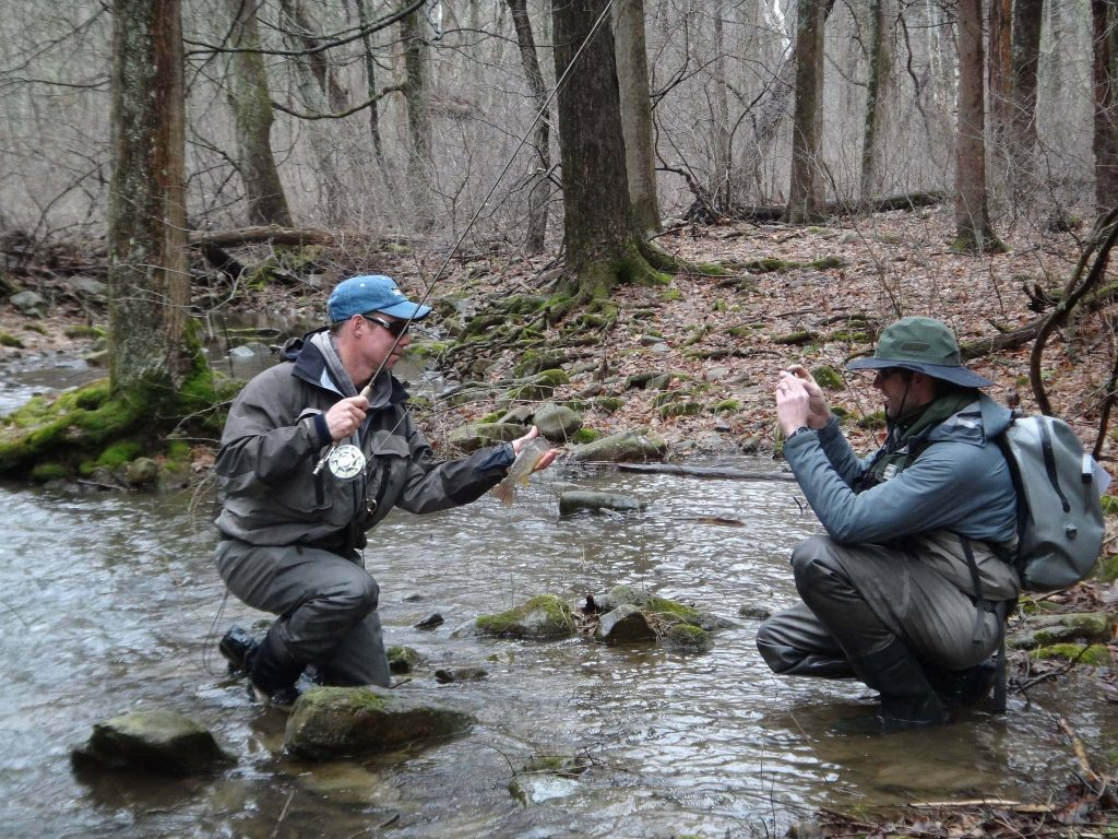 Graham Training with coach and competition angler George Daniel