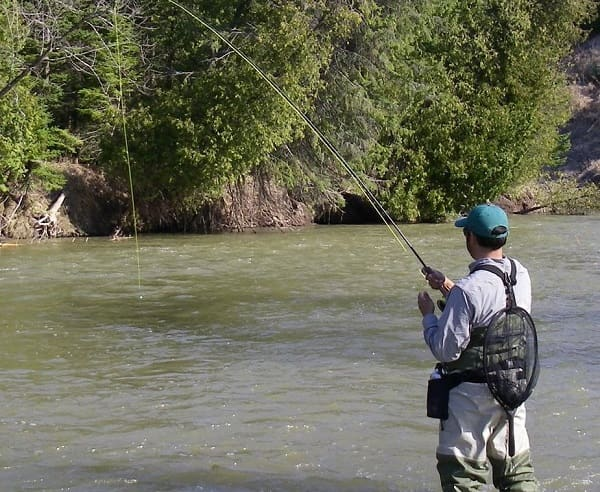 An an angler learning how to catch trout