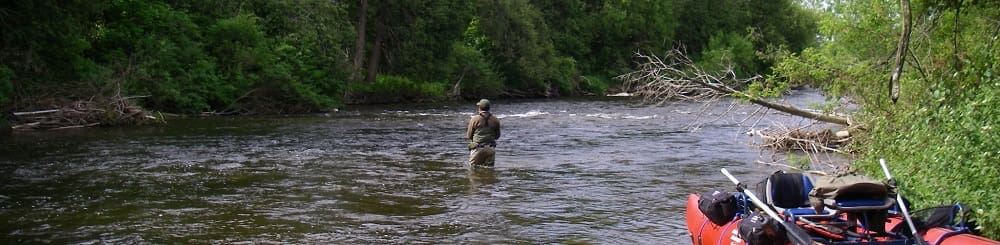 Fishing faster water with weights to get the flies down
