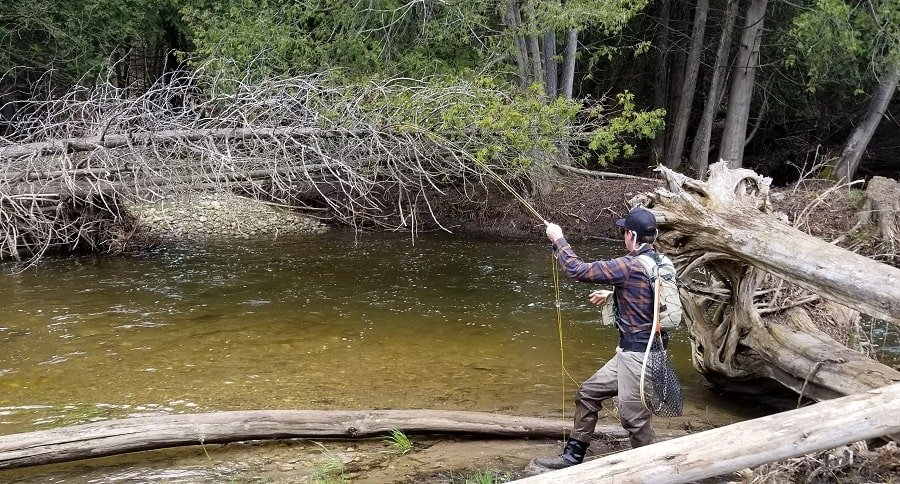 Attaching a trout net