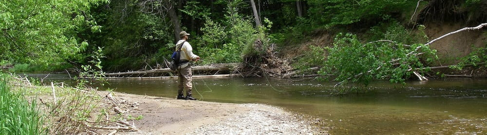 An Angler Using A pack