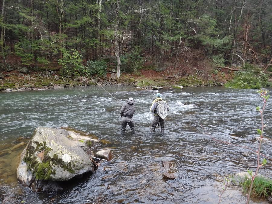 Less weight for fly fishing is better