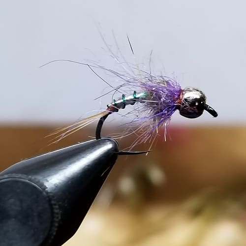 One of my 2 fly rig test flies