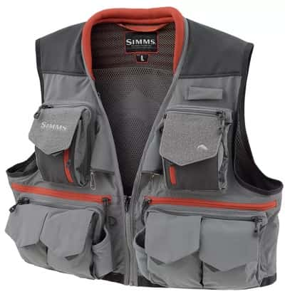 The Simms Guide vest in gray color.