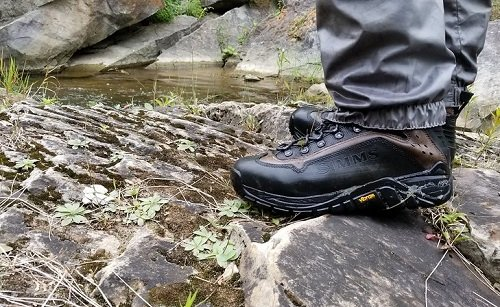 Good wading boots are a must for rocky terrain.
