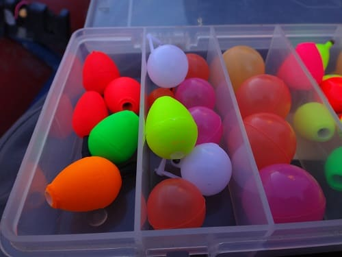 A box of the best fly fishing indicators