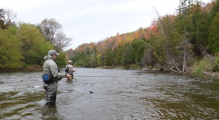 The best waders for steelhead fishing are good in water like this.