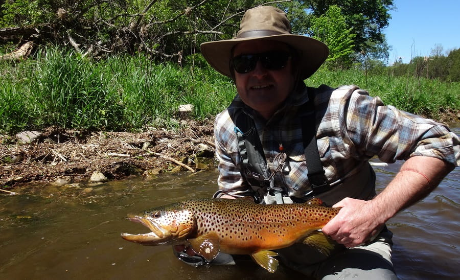 An angler that knows what pound test leader for trout is best.
