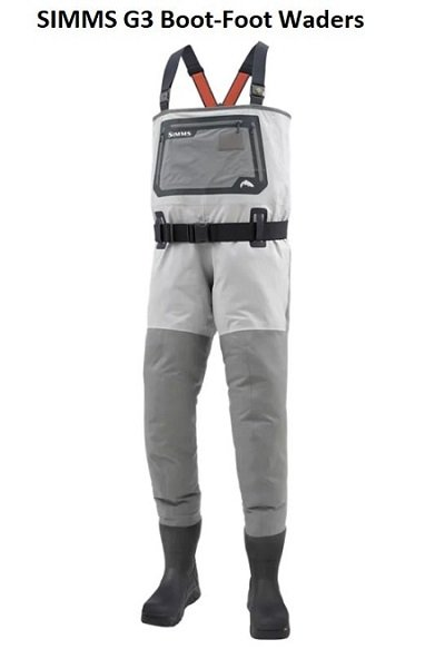 Simms G3 boot foot waders are the best waders for steelhead fishing