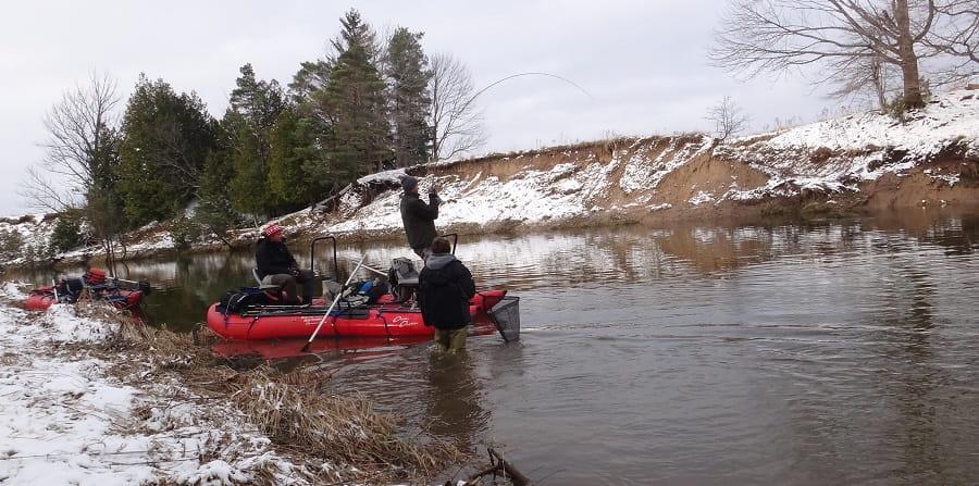 Centerpin fishing gear for winter fishing