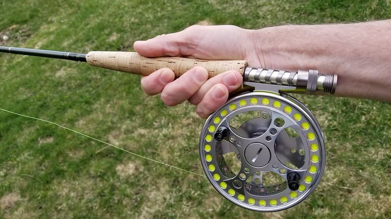 Centerpin rod and reel for Centerpin fishing for trout