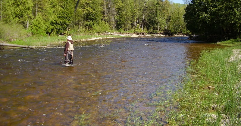Float fishing for trout in long runs like this is good