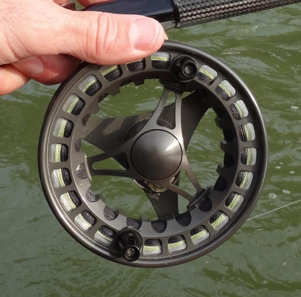 Ported reels like this Raven T5 are lighter