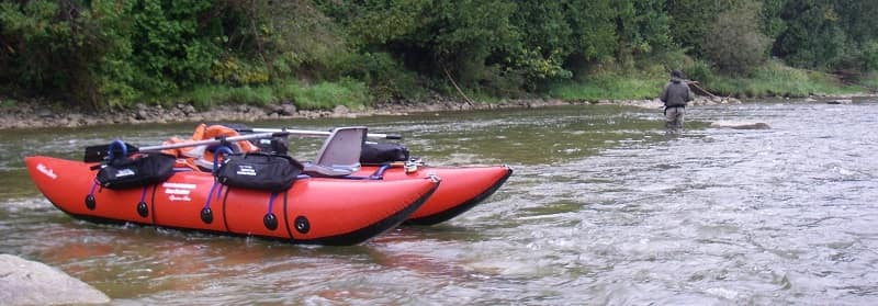 Larger boats like this are great fly fishing boats for 2 guys in big and small rivers