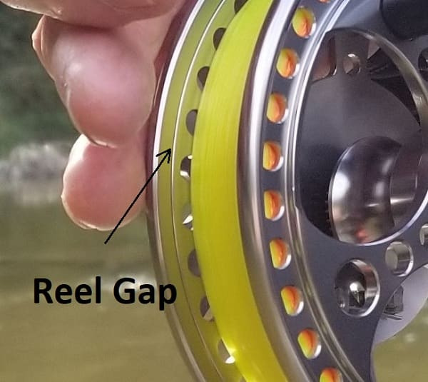 Good reels like this Raven Matrix Fully Ported have a tight gap