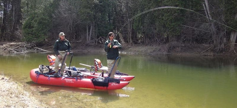 Stand up pontoon boats make great fly fishing boats