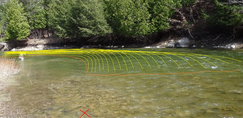 Covering the water when float fishing for trout