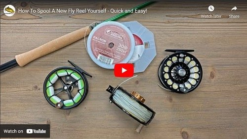 How to put backing on a Centerpin reel or a fly reel.